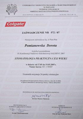 Udział w Konferencji Naukowo-Szkoleniowej na temat stomatologii praktycznej XXI wieku, odbywającej się w Poznaniu
